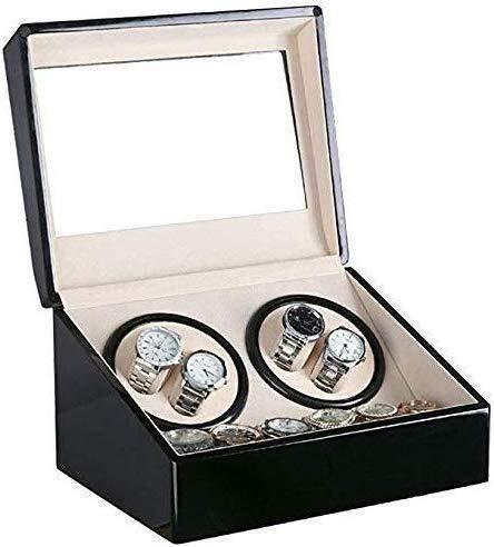 YZJL Automatische horloge winders Automatische Winder 4+6 Tafel Elektrische Motor Roterende Mechanische Horloge Winding Box Zwart TafelShaker Automatische TafelShaker Horloge