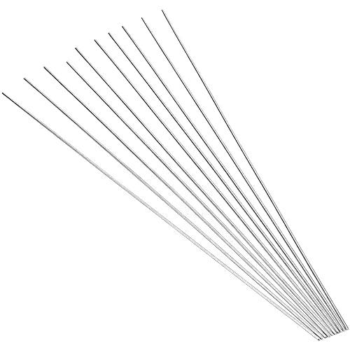 YPLonon 30 Piezas Varilla de Soldadura de Aluminio de Baja Temperatura 0.15x33cm Alambre de Aluminio con Núcleo de Fundente Barra de Soldadura TIG sin Necesidad de Polvo de Soldadura