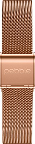 pebble 60112 Metall Armband für Time Round 14 mm Polished Rosegold