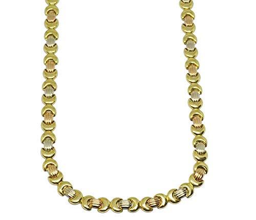 Desing & Gold Gargantilla Cadena Oro Tricolor 18 Kte