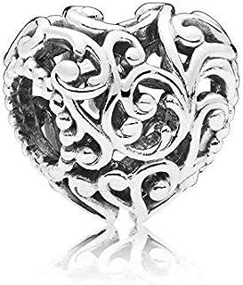 Pandora Regal pattern heart silver charm , 797672
