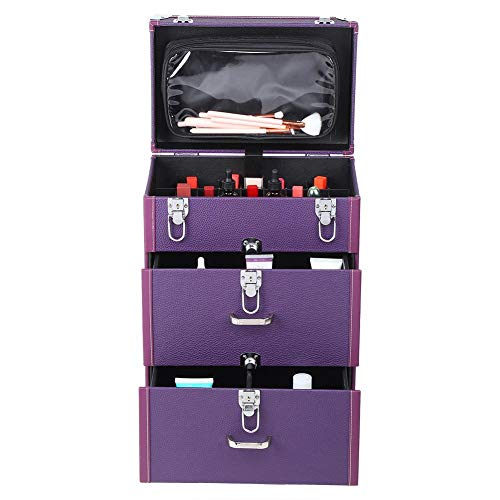 【𝐖𝐞𝐢𝐡𝐧𝐚𝐜𝐡𝐭𝐞𝐧 𝐍𝐢𝐞𝐝𝐫𝐢𝐠𝐬𝐭𝐞𝐫 𝐏𝐫𝐞𝐢𝐬】 Toolbox zur Unfallverhütung mit hoher Kapazität, Close Cosmetic Box, für Reisen zu Hause(Violet)