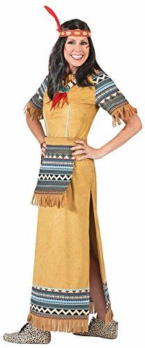 Das Kostümland Indianerin Cherokee Kostüm für Damen Lang Gr. 48 50