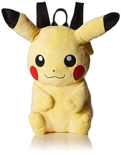 Pokemon Boys' Pikachu Plush Backpack, Yellow, 15'