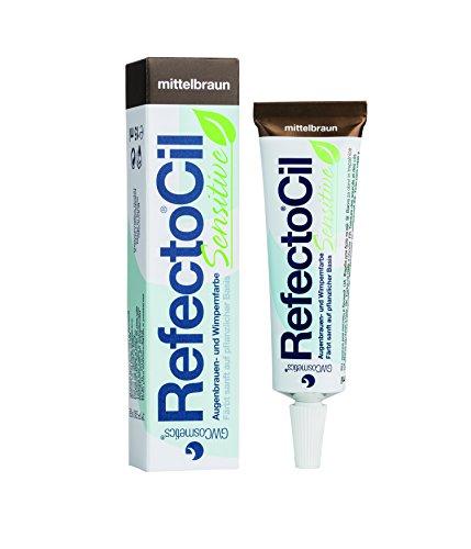 RefectoCil Wimpernfarbe Sensitiv Mittelbraun Augenbrauen, Färbemittel 15 ml, Pflanzen Basis