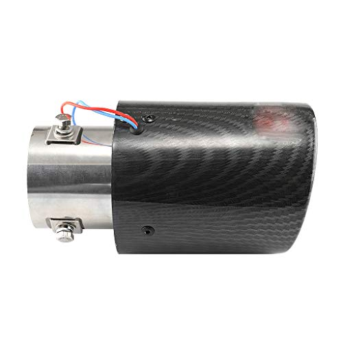 Universal Car Rear Round Exhaust Pipe Tail Muffler Tip Durable and Rustproof Bent Stainless Steel Colorful Car End Pipe Silencer with Pressurization Effect and Prevent Exhaust Pipe Deformation