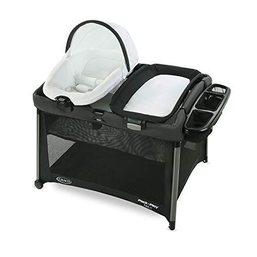 Graco Pack 'n Play FoldLite Playard | Lightweight Travel Pack 'n Play with Easy, Compact Fold, Sawyer
