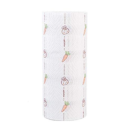 Bedrukte keuken afwaspapier olie absorberend papier kookpapier handdoek wasbare rol papieren doekjes