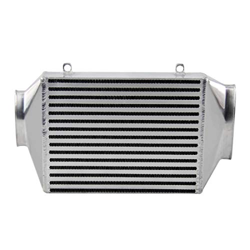 CoolingSky 60MM Core Top Mount Supercharger Aluminum Intercooler Compatible for BMW Mini Cooper S R53 2002-2006