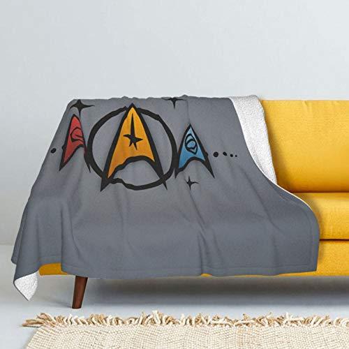 Zsrgvdrf Star Trek - Mantas de doble cara con pelo de zorro plateado y pelo de cordero súper suave, mullidas y cálidas para camas y sofás, varios tamaños disponibles, 50 x 40