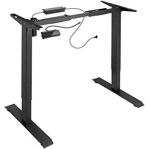 TecTake 800665 - Elektrisch höhenverstellbares Tischgestell, Variable Gestellbreite, Memory- und Alarmfunktion - Diverse Farben - (Schwarz | Nr. 402999)