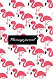 Flamingo journal: Just a Girl Who Loves Pink Flamingos notebook college ruled 110 Pages (6×9) .