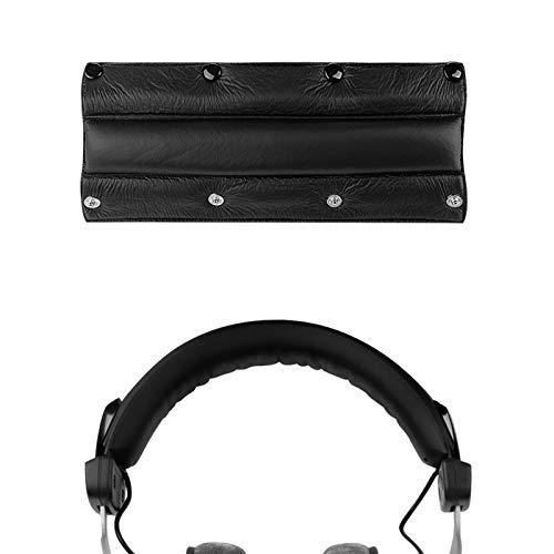 Geekria Headband Comfort Cushion Pad con chiusure a scatto/Fascia di aggiornamento di ricambio compatibile con Beyerdynamic DT440, DT660, DT770, DT860, DT990, DT990PRO, Grado SR (pelle nera)