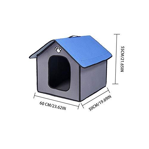 ZNN Casa de Perro Caliente Impermeable Compuesto Impermeable PVC Perrera Cattery con Almohadilla extraíble para Mascotas para Dormir en Interiores y Exteriores