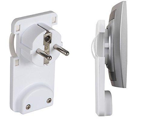 Kanlux Schuko-Stecker, weiß, extra flach 2P + PE-W