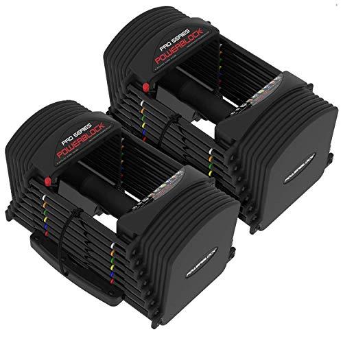 Power Block PowerBlock PRO EXP 1-41 kg Verstellbare Kurzhanteln Professionell Verstellbare Hanteln hanteln Fitness Studio Qualität - Stufe 1 2 3