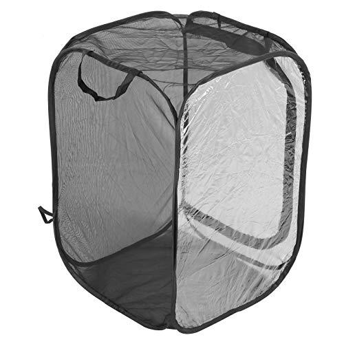 Faltbares Pflanzengewächshaus Belüfteter Insekten-Netzkäfig Schmetterlingskäfig Lebensraum Gehäuse Gehege Zuchtkäfig (15,7 x 15,7 x 23,6 Zoll)