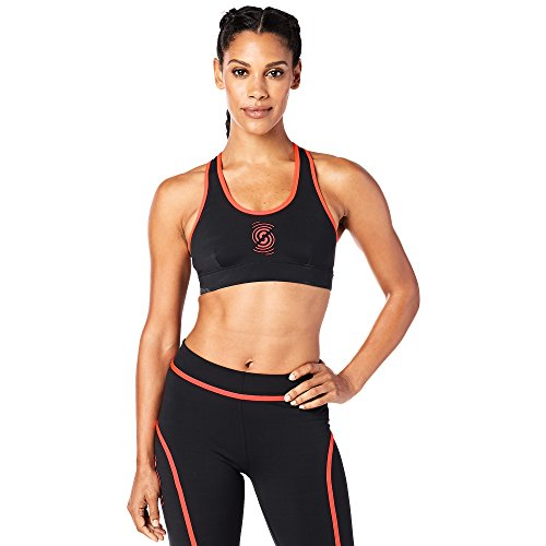 Zumba Fitness Strong by Zumba Scoop Bra Mujer Tops, Mujer, Strong by Zumba Scoop Bra, Back to Black, Medium
