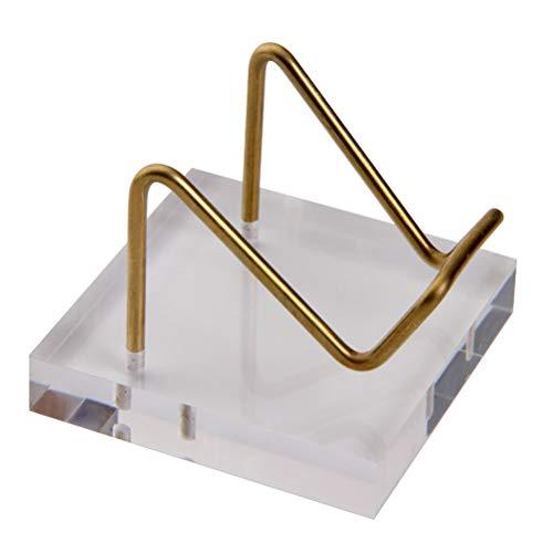 Mini Display Ständer, Acryl Kristall Display Ständer Mini Desktop Staffelei Ständer Metall Arm Display mit Acryl Basis