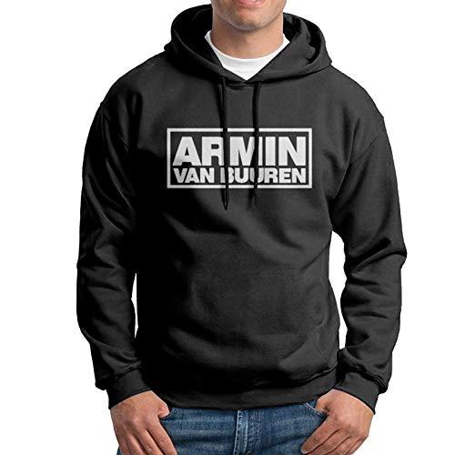 Shichangwei Herren Classic Armin Van Buuren Design Geschenk Kapuzen-Sweatshirt mit Hut Gr. Small, Schwarz