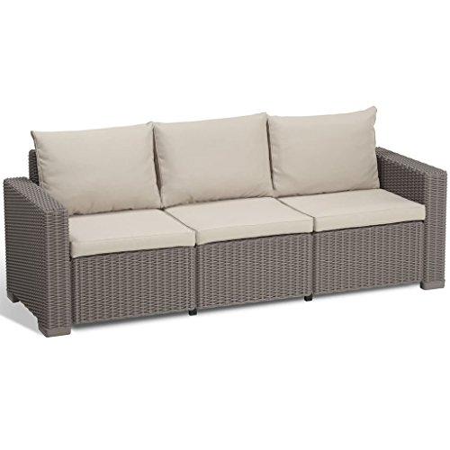 Allibert Lounge California sofá, Capuchino/Panama Arena, 199x 68x 72cm, 233052