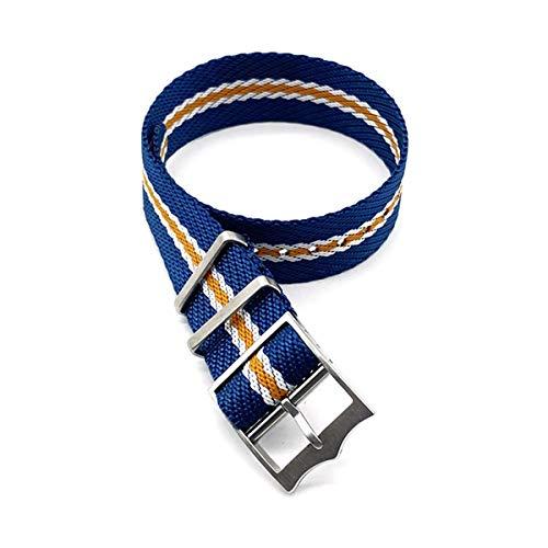 Nylon Nato Strap 20mm 22mm in nylon tessuto cinturino Accessori cinturini Blu Bianco Arancione,20mm