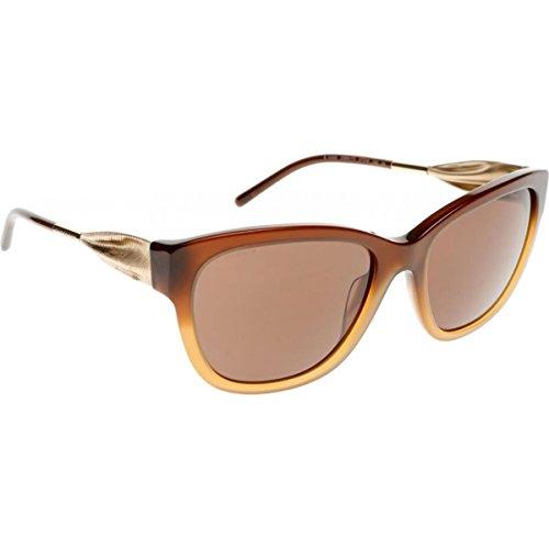 Burberry Unisex BE4203 Sonnenbrille, Braun (Gestell: braun-verlauf Haselnuss, Gläser: braun 336973), Large (Herstellergröße: 57)
