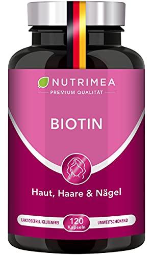 BIOTIN Haar Vital + Zink & Selen für gesunde Haut, Haare & Nägel | In Deutschland hergestellt & laborgeprüft - 4-MONATIGE INTENSIV-KUR mit nur 1 Kapsel täglich - 100% Vegan & Ohne Zusätze