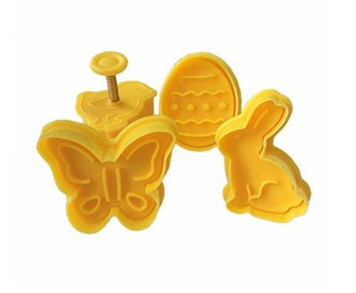 Zuckergussformen / Teigausstecher, Oster-Design, für Plätzchen und Kuchendekorationen geeignet