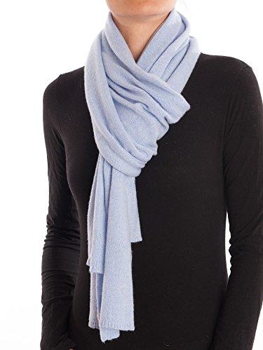 DALLE PIANE CASHMERE - Schal aus 100% Kaschmir - für Mann/Frau, Farbe: Himmel, Einheitsgröße