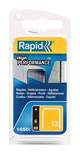 Rapid 40109519 Feindrahtklammer Typ 13/6mm, 1.600 St. Blister, 6 mm, Verzinkter Stahl