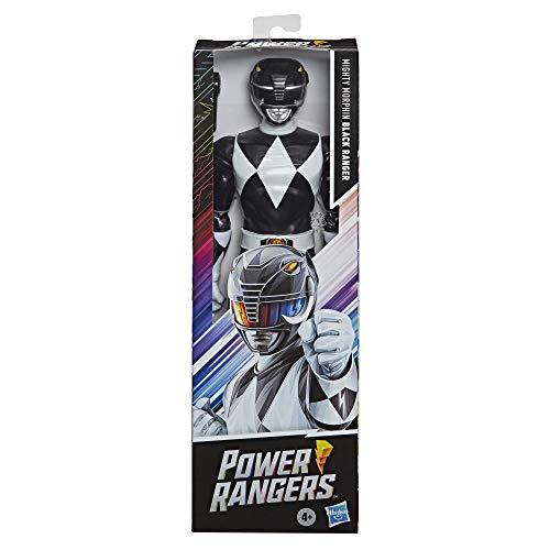 Power Rangers Mighty Morphin Black Ranger 30cm Actionfigur Spielzeug inspiriert vom klassischen Power Rangers TV Programm mit Power Axt Zubehör