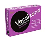 Vocalzone Throat Pastilles Blackcurrant Sugar Free 24 - For Sore Throats and Hoarseness When Overusing Your Voice. Produced and sold in the United Kingdom since 1912.