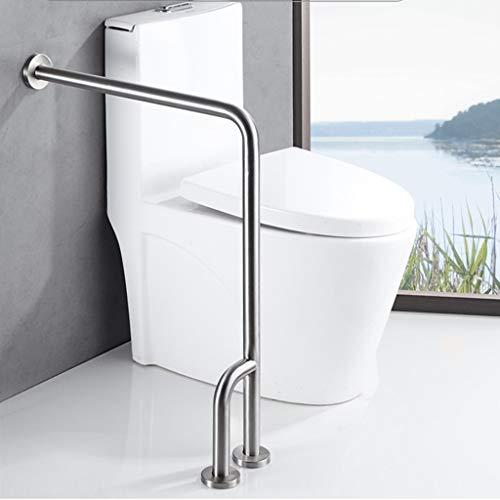 Barras de seguridad para el inodoro del baño - Barras de sujeción para discapacitados en la ducha - Marco de soporte con barandilla - Ayudas de barandilla de acero inoxidable para personas mayores ⭐