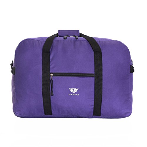 Slimbridge Cabin Carry-On Under The Seat Hand Luggage Travel Bag Ultra Lightweight 55 cm 450 Grams 44 litres with Shoulder Strap for Ryanair Maximum Allowance Bags, Tarbet Purple