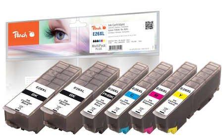 Peach Spar Pack Plus Tintenpatronen HY kompatibel zu Epson No. 26XL, T263