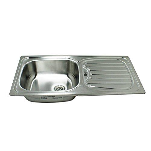 Edelstahl Küchen Einbauspüle Alfa1 Rechteck mit Ablage Spülbecken Küchenspüle rechteckig