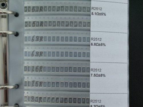 2512 package SMD SMT 1 W chip resistor folder kit 80 value 3840pcs