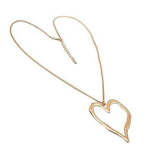 Collar con colgante de corazón de Wonky corazón dorado de Lagenlook
