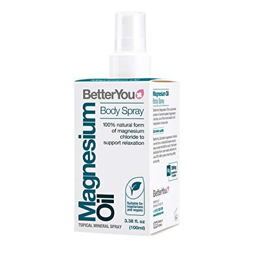 BetterYou Magnesium Body Spray | Pure, Clean and Natural Source Magnesium Chloride | Magnesium Spray | Vegan & Palm-Oil Free | 3.4 fl oz (600 Sprays)