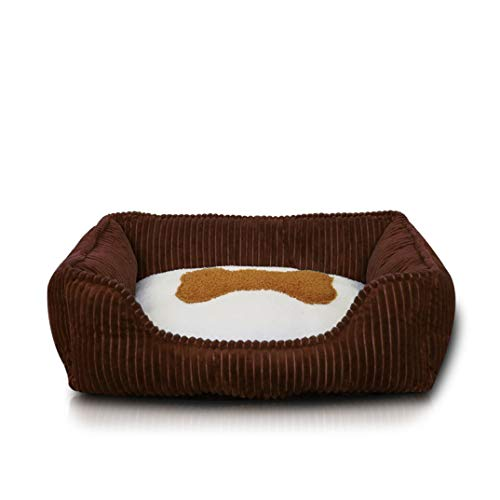 Ultra-Soft Corduroy Pet Sofa Lounger Bed Washable Anti-Slip Kennel Breathable Sleeping Orthopedic Bed for Cat Dog