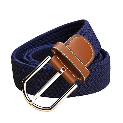 Gtagain Cinturon Casual Hombre Marron - Unisex Complementos Cintura Lona Ajustable Cintura...