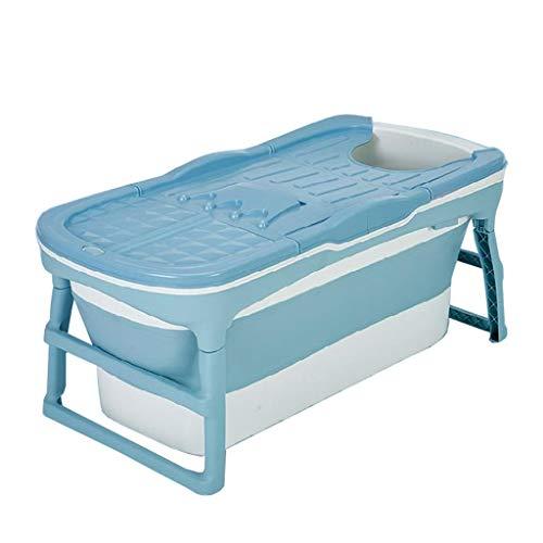 Volwassen Portable Folding bad huis Soak Plastic emmer kindpeuter Bath Barrel Pool Spa Met Kruk (Color : Purple)