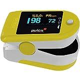 Pulsoximeter PULOX PO-200 Solo in Gelb Fingerpulsoximeter für die Messung des Puls und der Sauerstoffsättigung am Finger
