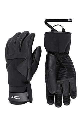 KJUS Men Motion Gloves Schwarz, Herren Fingerhandschuh, Größe 9 - Farbe Black