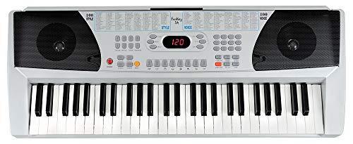 Funkey 54 Keyboard (100 Sounds, 100 Rhythmen, Netzteil, Mikrofon Eingang, Notenständer)