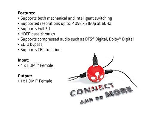 Club 3D HDMI 2.0 UHD Switchbox 4 ports 4K 60Hz, CSV-1370