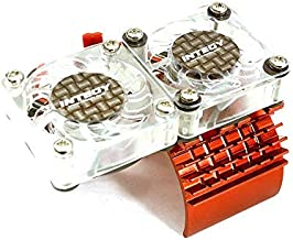 Integy RC Model Hop-ups C23139RED Super Motor Heatsink+Twin Cooling Fan 540/550