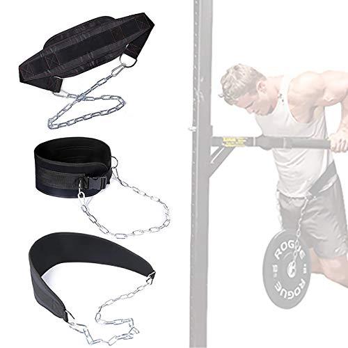 Asolym Combinación de Cinturón Levantamiento Pesas y Cinturón Inmersión, Cinturón Levantamiento Hombres y Mujeres con Cadena, Cinturón Levantamiento Pesos Adicionales Durante el Entrenamiento Fuerza
