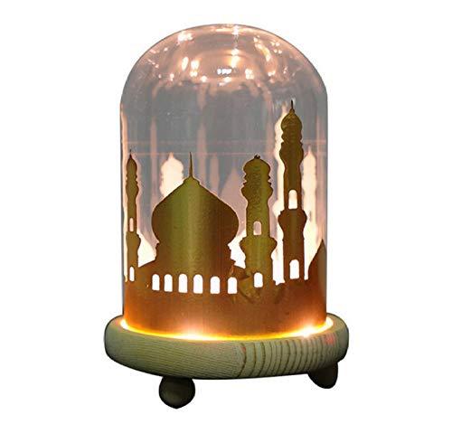 fczka Ramadan Lichter Dekoration Maison Ferienhaus Jahr beleuchtet Zeichen Nachtlicht Lampka Nocna Glas Lampka Nocna Dla Dzieci